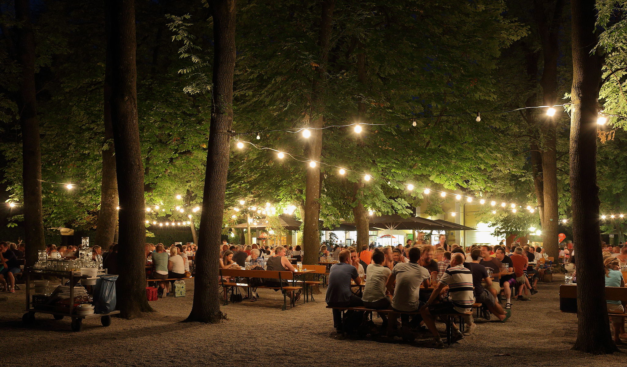 Beer Garden at night